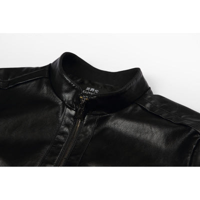 Leather Jacket Mens England Style