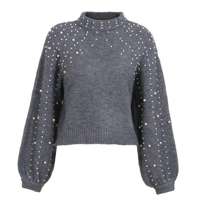 Sweaters for Women Knitted Pullovers Pearl Turtleneck