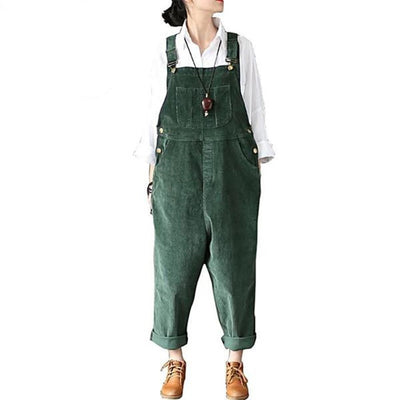 Jumpsuit  Women  VINTAGE  Corduroy Cotton
