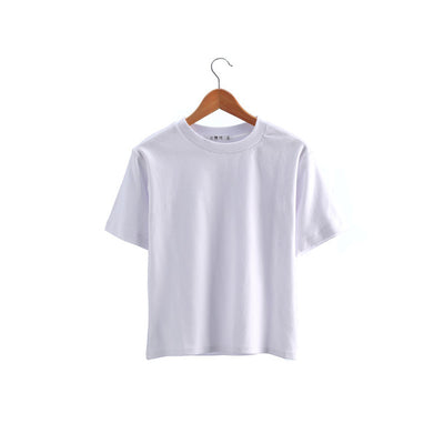 T Shirts for Women Vintage Cotton Short Sleeve