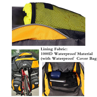 Large Saddle Bag for Bicycle 65L Waterproof  Rear Seat