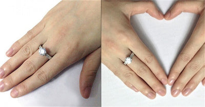 Wedding Ring for Woman Sterling Silver 2 Carat CZ