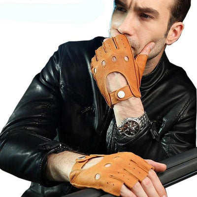 Leather Gloves Fingerless