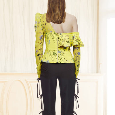 Blouses for Women Off Shoulder Printed Floral