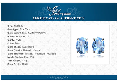 Womens Jewelry Sets Sky Blue Topaz 925 Sterling Silver