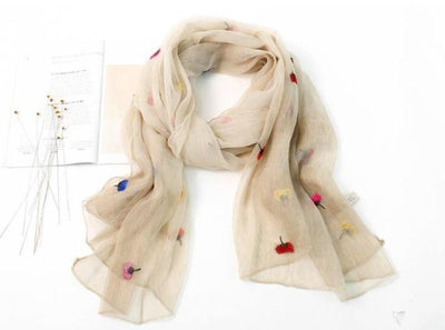 Scarves for Women  Silk  Flower Print
