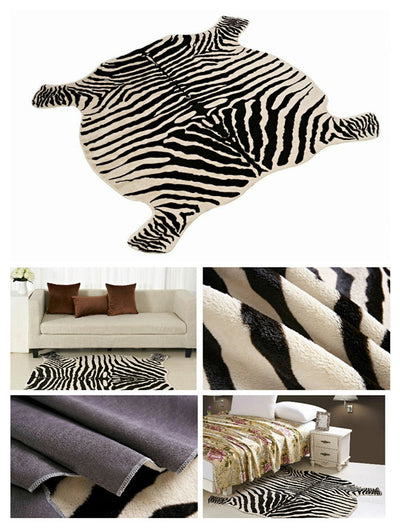 Living Room  Decorated Rugs Zebra/Cow Printed