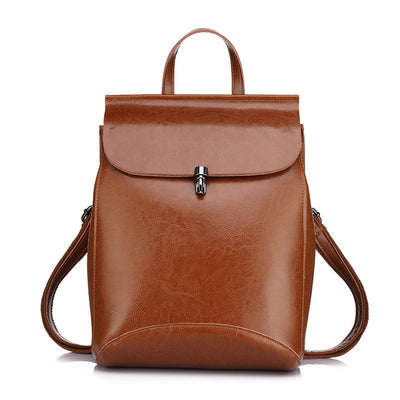 REALER women backpack split leather backpack school bag for girls teenagers vintage backpack large travel female shoulder bag