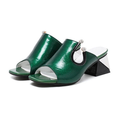 Womens Genuine Leather  Sandals   Fashion Dress Wedding Party Shoes