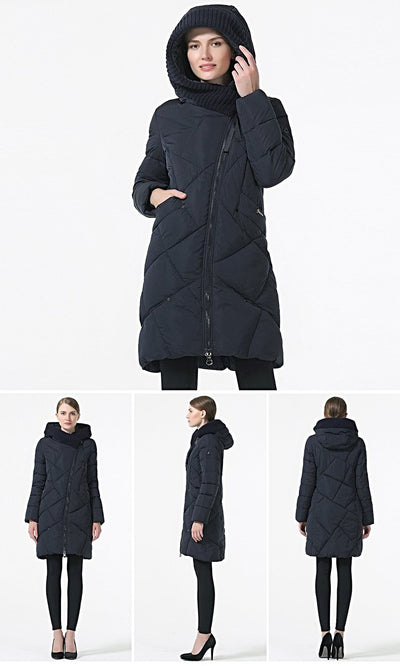 Womens Winter Coats Bio Down Hooded Plus Size