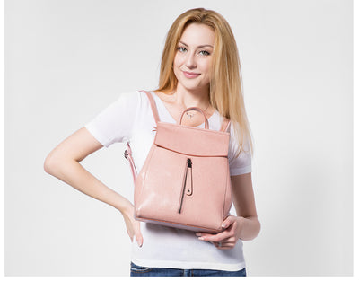 Backpacks  for Teens Girls Cow Split Leather