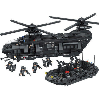 SWAT Technic City Police   Building Blocks   Transport Helicopter  1351 PCS.