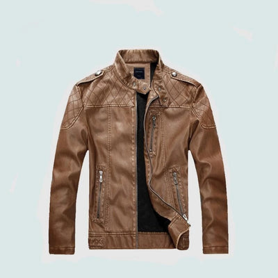 Leather Jacket for Men Fashion Motorcycle Style