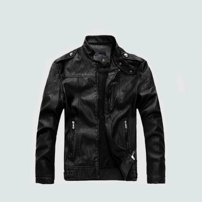Leather Motorcycle Jacket for Men Classic Style