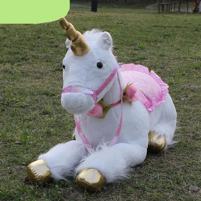 Plush Toys   33.5 inches White Unicorn Stuffed Animal