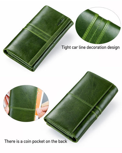 Long Clutch  Wallets for  Women Genuine Leather
