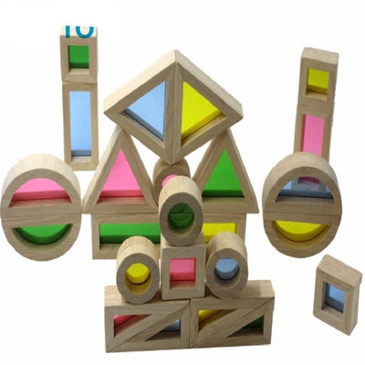 Building Blocks 24 PCS./set Wooden Rainbow