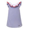 Stripe Kids Girls Dresses   Sleeveless