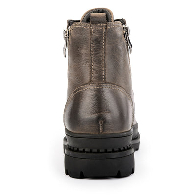 Mens Genuine Leather  Fur Snow Boots