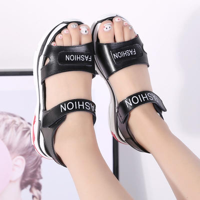 Womens Split Leather Sandals for Summer  Flip Flop Shoes