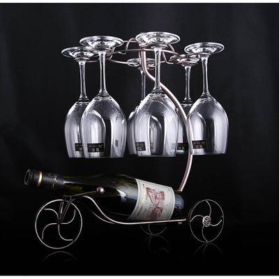 Wine Rack Decorative Hanging Upside Down  Glass Cups