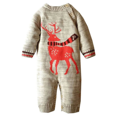 Baby Clothes Romper Cotton Warm Christmas Deer