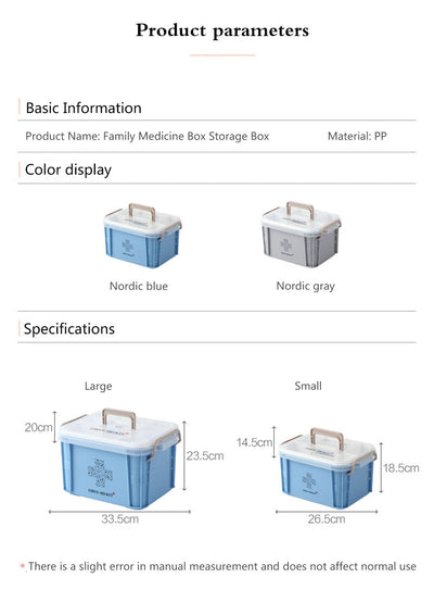 Plastic Storage Container Large Medical Boxes