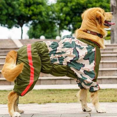 Dog Raincoat Waterproof  Camouflage Breathable
