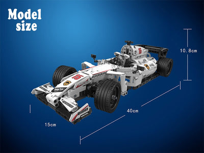 F1  Racing Car Building Blocks 729 Pcs.  Remote Control 2.4GHz Technic with Motor Box