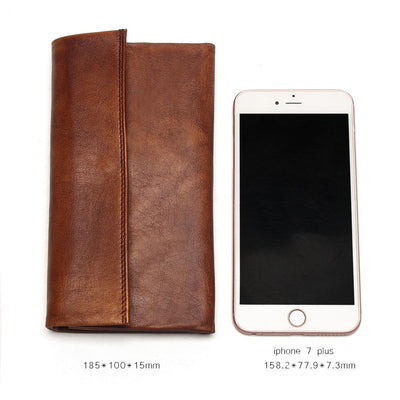 Long Genuine Leather Wallets for Women  Thin Clutch