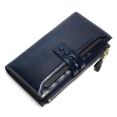 Genuine Leather Wallets for Women    Long Design Clutch