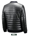 Mens Leather Jacket  Plus Size Baseball Collar