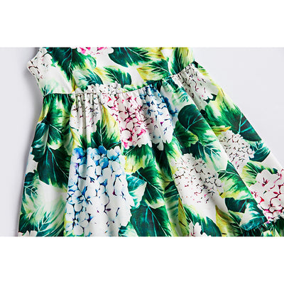 Girls  Dresses  Flower Pattern Sleeveless