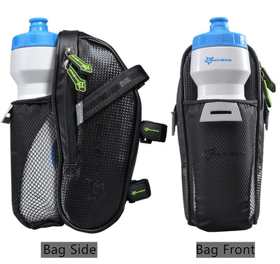 Saddle Bag with Water Bottle Pocket  MTB Bike Rear Bags Waterproof