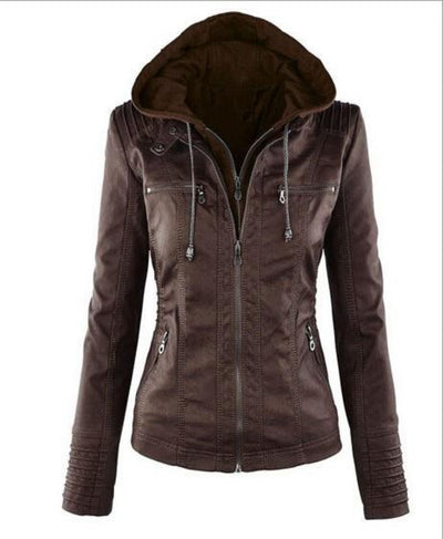 Winter  Leather Jacket Women Waterproof Windproof  Plus Size