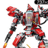Building Blocks  737 Pcs. Kai Zan Ninjaed Fire Mech