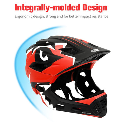 Bike Helmets 2 In 1 Full Covered for Kids