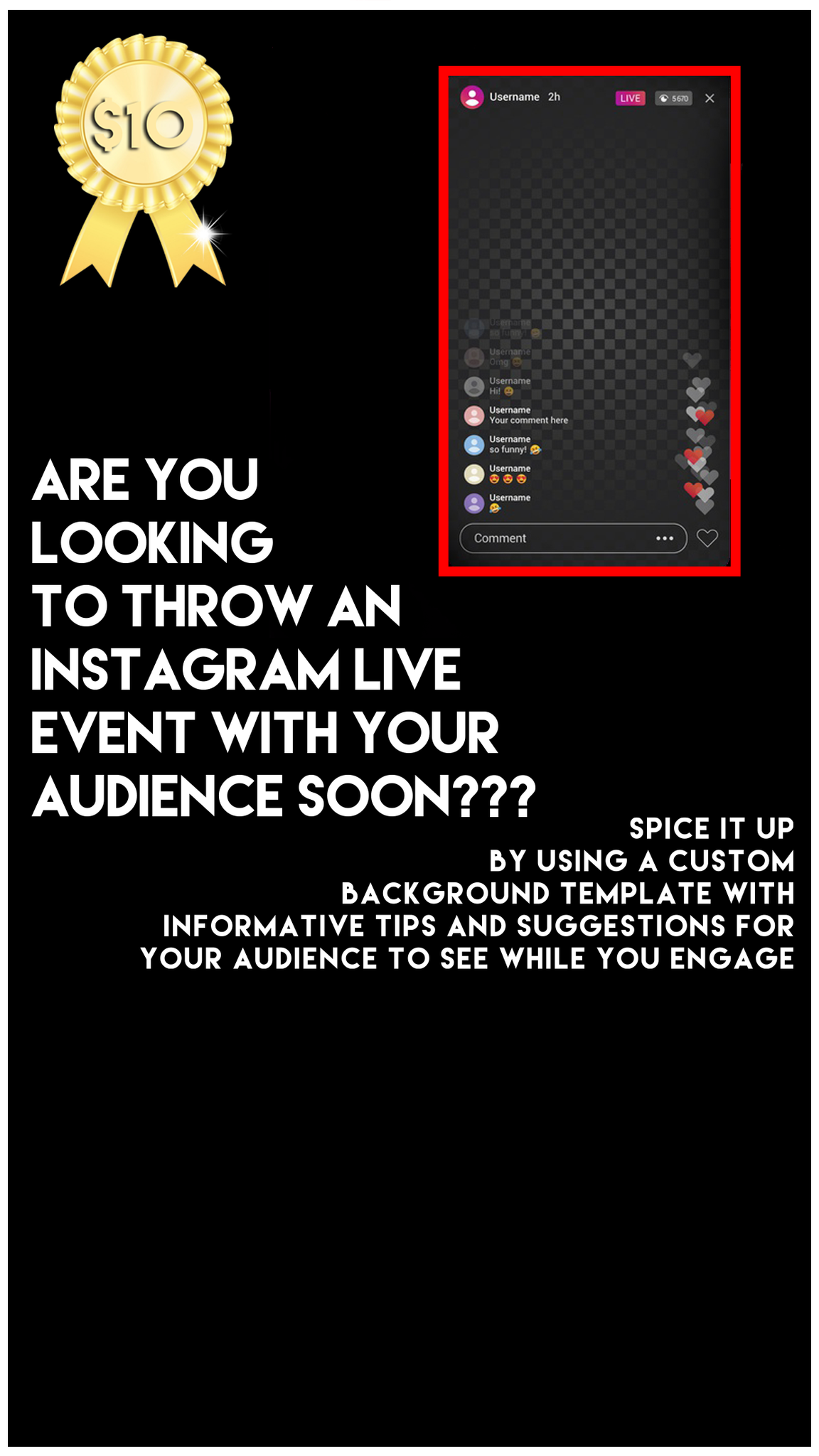Instgram Live Event Background Template