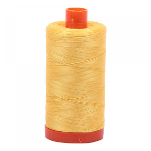AURIFIL QUILT THREAD - 50 WT - 1422 yds #1135 Pale Yellow