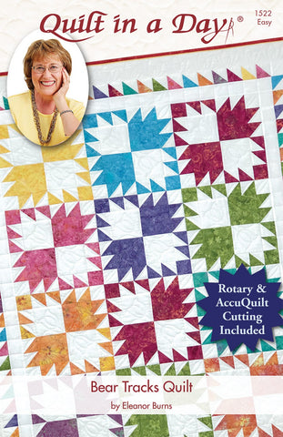 Bear Tracks Quilt in a Day pattern, Eleanor Burns #1522 For Rotary & AccuQuilt