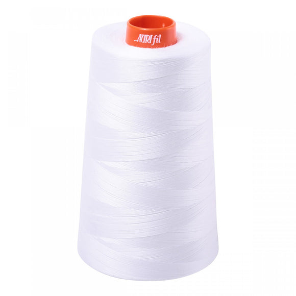 AURIFIL QUILT THREAD CONE - 50 WT - 6452 yds #2024 White
