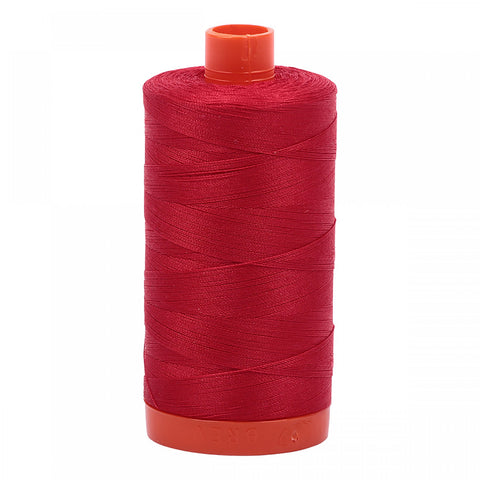 AURIFIL QUILT THREAD - 50 WT - 1422 yds #2250 Red