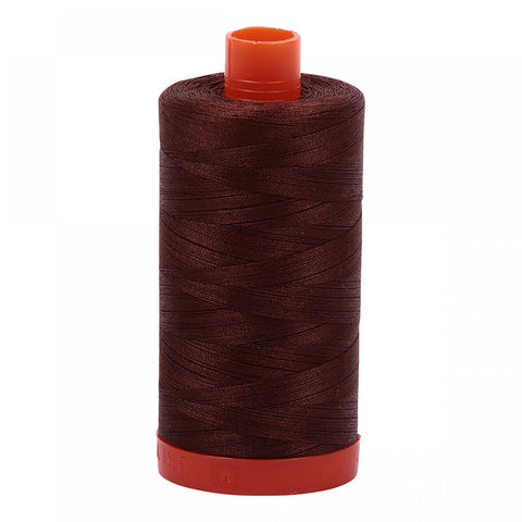 AURIFIL QUILT THREAD - 50 WT - 1422 yds #2360 Chocolate/Brown