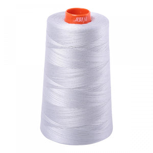 AURIFIL QUILT THREAD CONE - 50 WT - 6452 yds. #2600 Dove (Light Grey)