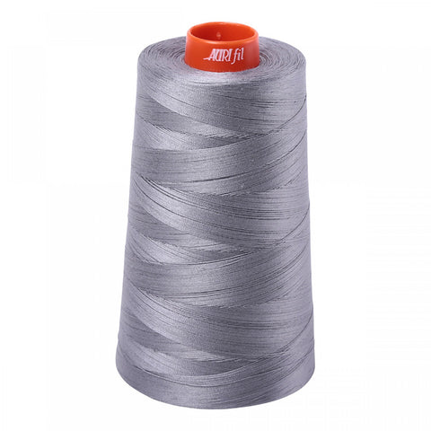 AURIFIL QUILT THREAD CONE - 50 WT - 6452 yds #2605 Medium Grey