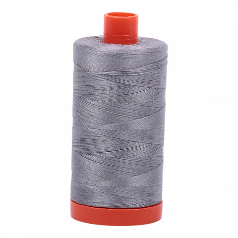 AURIFIL QUILT THREAD - 50 WT - 1422 yds #2605 Grey