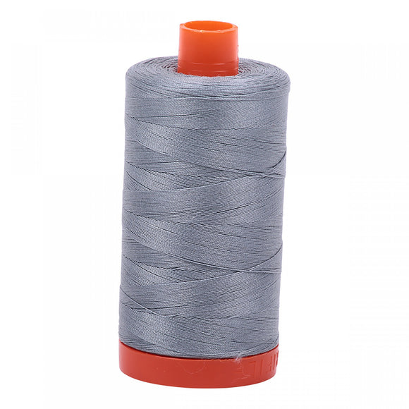AURIFIL QUILT THREAD - 50 WT - 1422 yds #2610 Light Blue Grey