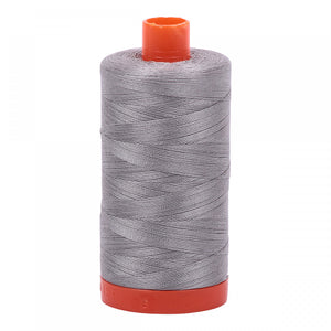 AURIFIL QUILT THREAD - 50 WT - 1422 yds #2620 Stainless Steel