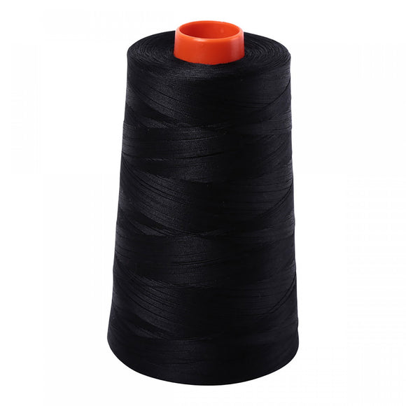 AURIFIL QUILT THREAD CONE - 50 WT - 6452 yds #2692 Black