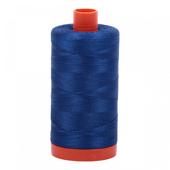 AURIFIL QUILT THREAD - 50 WT - 1422 yds #2740 Dark Cobalt (Blue)